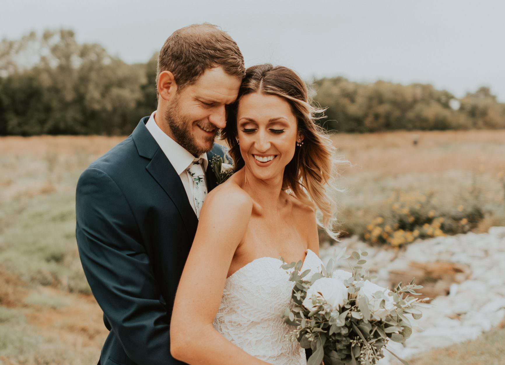 bride and groom portraits from wedding in lincoln nebraska