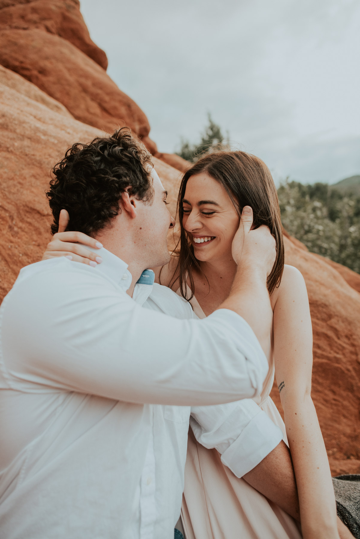 of course we started their engagement session at the penny arcade in manitou springs, colorado - of course. devyn + coleton are the giggliest silliest couple I have ever forced to hug for two hours so we needed the perfect spot to reflect that... arcades. duh.