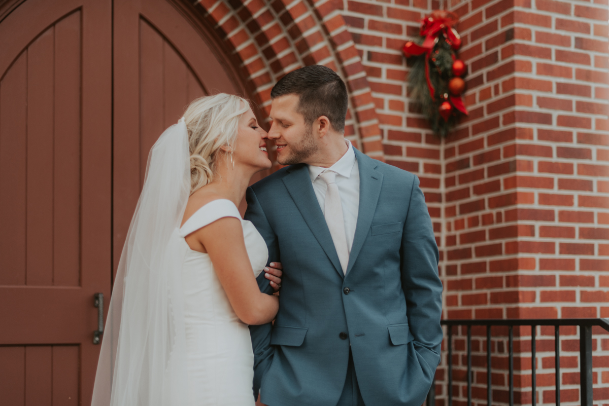 bride and groom from intimate wedding in lincoln nebraska