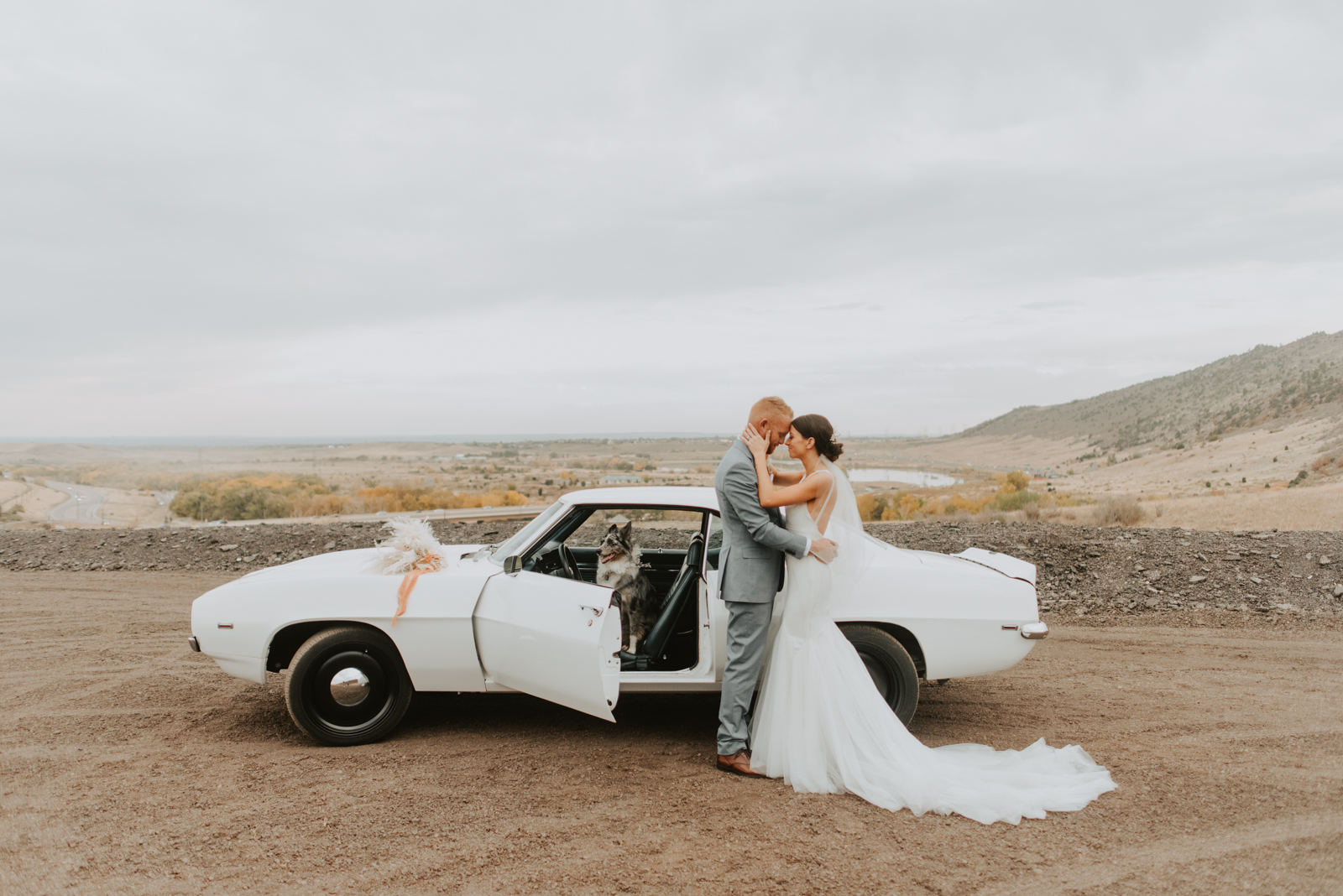 katie and cales boho racetrack wedding day at bandimere speedway in denver colorado