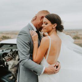 katie and cales boho racetrack wedding day at bandimere speedway in denver colorado