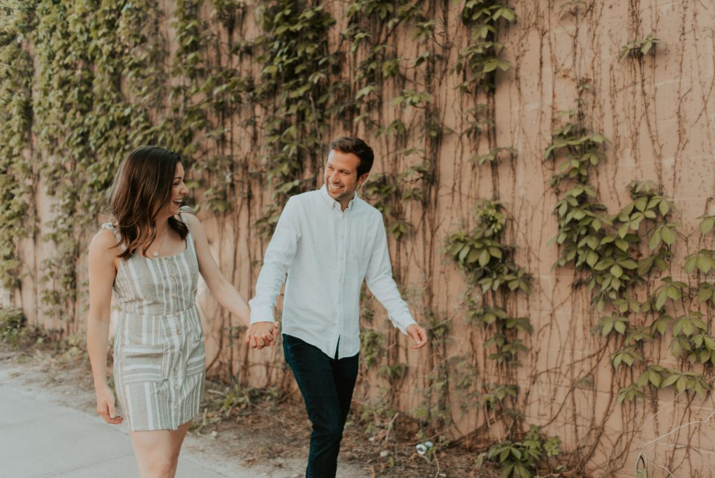 mackenzie+tom met me in omaha nebraska for their engagement session, a perfect spring day with just a few blossom trees and bright sun to welcome us!