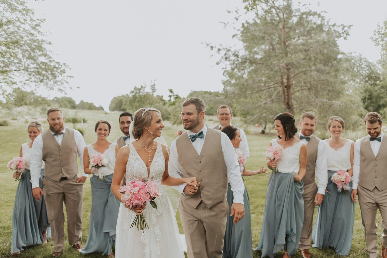 bridal party from wedding in lincoln, nebraska