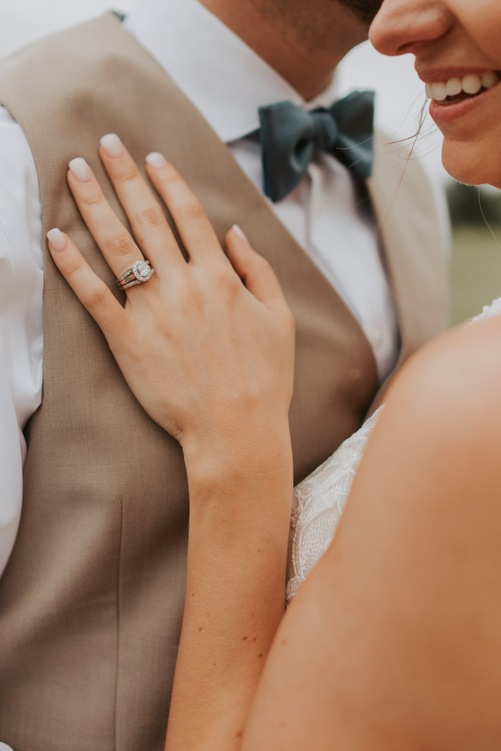 ring details with bride and groom from wedding in lincoln, nebraska