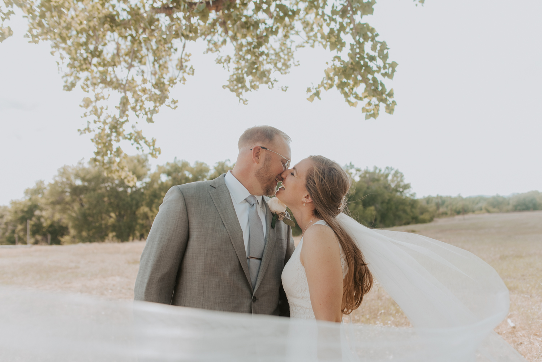 bride + groom wedding ceremony castle rock colorado