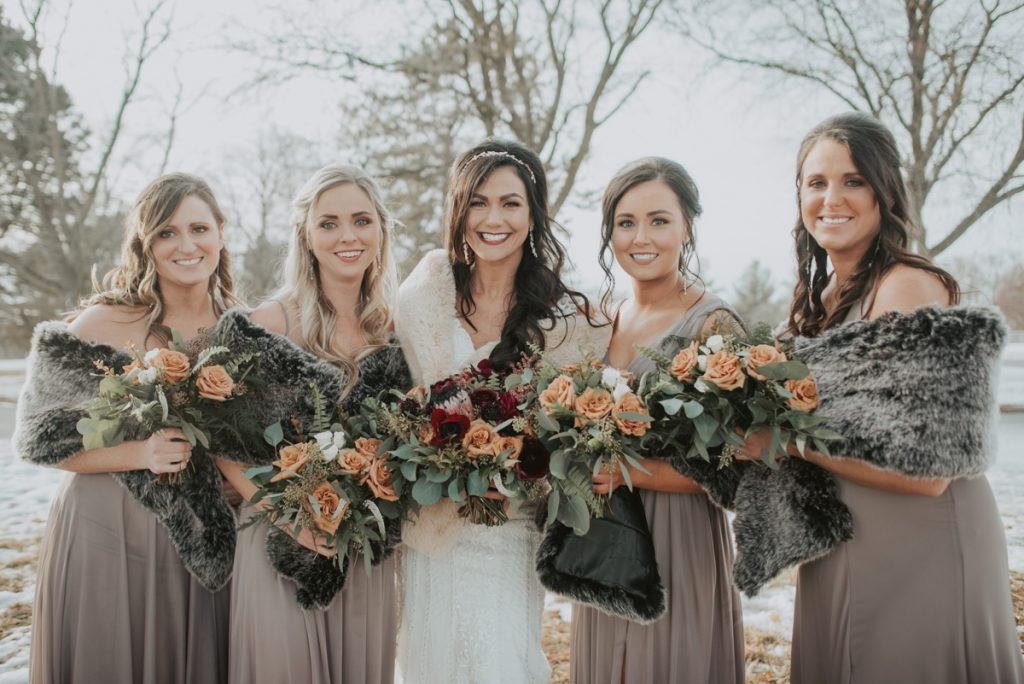 bridal party portraits from anna and daniels wedding in omaha nebraska