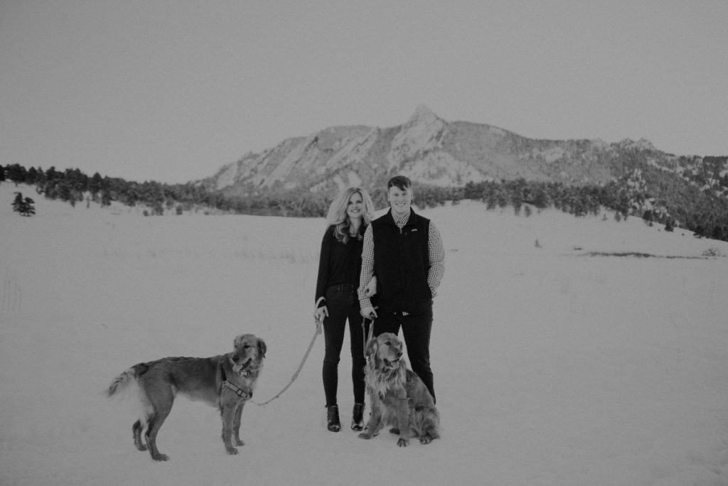 carrie beth and luke at their engagement session at chautauqua park in boulder colorado