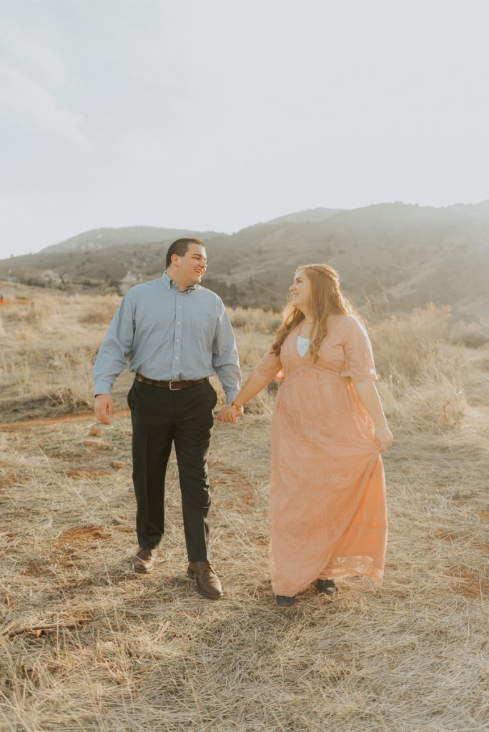 red rocks and eagle mountain in denver, colorado engagement photos