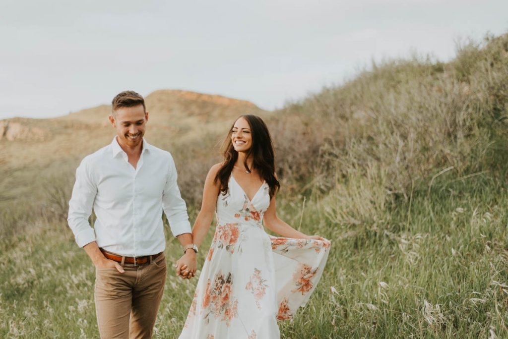 sydney and wills spring engagement session at horsetooth reservoir in fort collins colorado