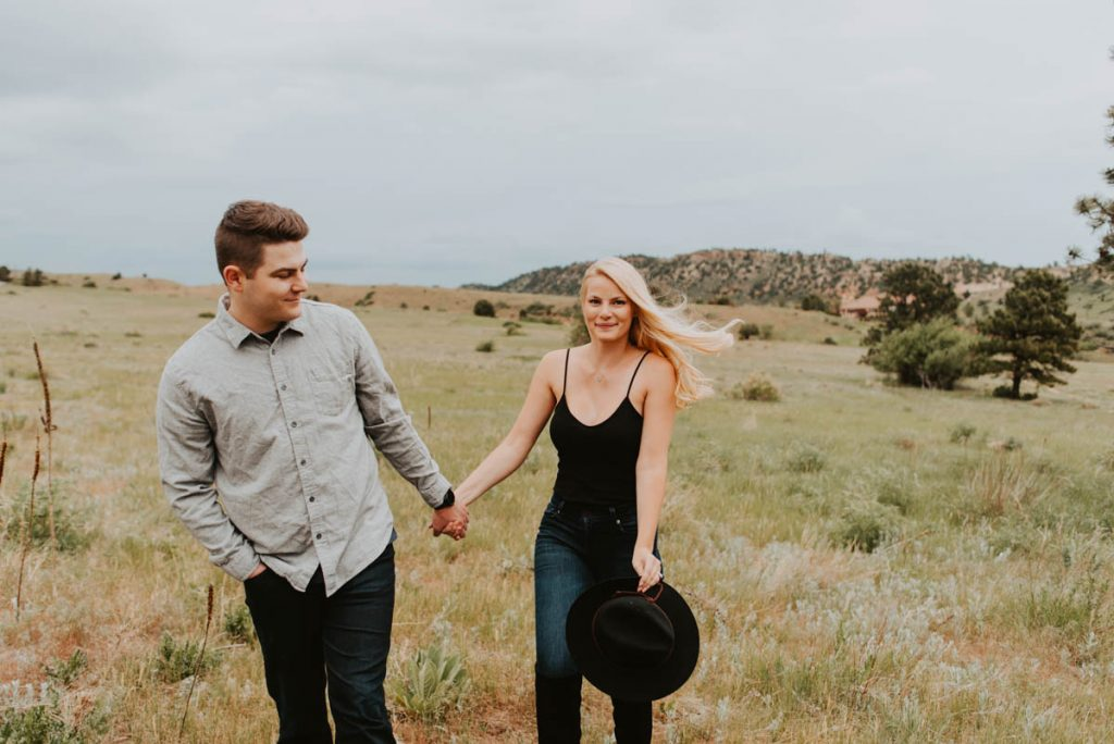 annie and bens summer engagement session at red rocks in morrison colorado
