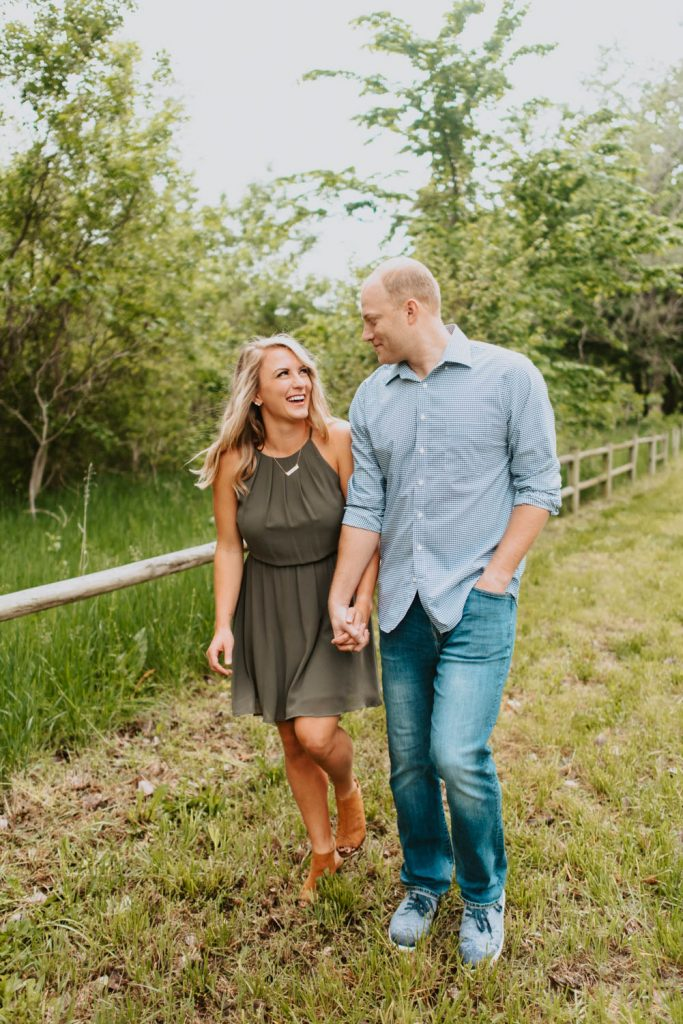 breanna and drews bright spring engagement session in south bend nebraska